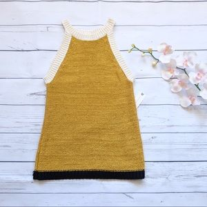 New Anthropologie Moth Knit Sleeveless Top Size XS